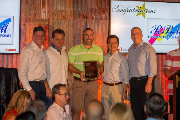 Owners of RBM, Gavin Northfield and Chris Ward receive 2015 Canon National Service Award at the Canon National Conference